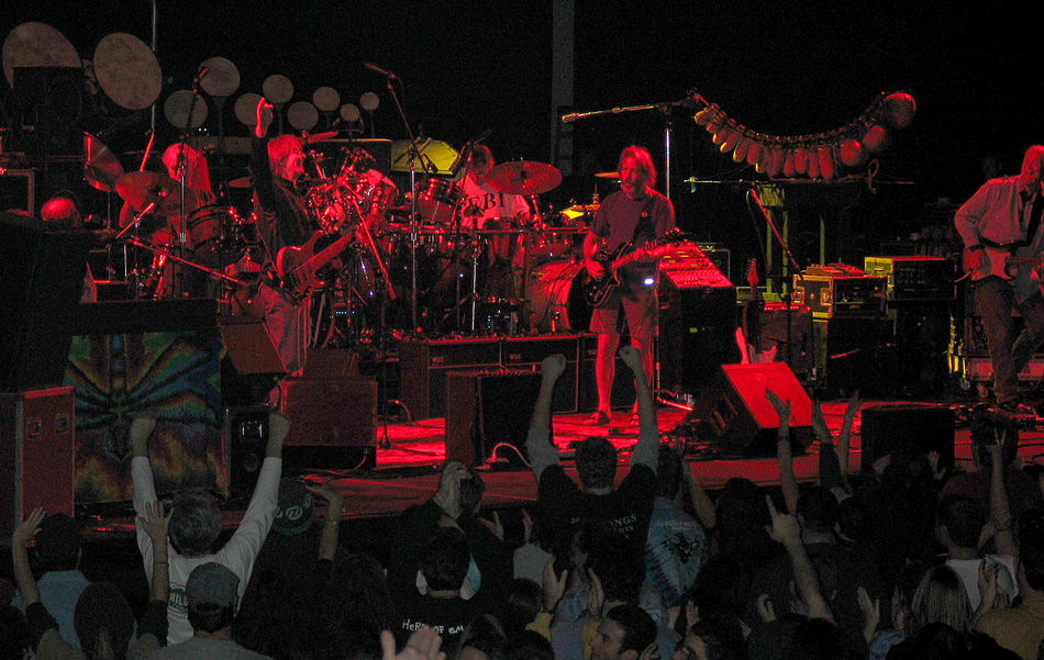 12/02/2002 Abundance Bill Kreutzmann Bob Weir Concert Photography Conseco Field House Cultures Decoration Grateful Dead Illuminated In A Row Indianapolis, IN Jeff Chimenti Jimmy Herring Large Group Of Objects Mickey Hart Multi Colored Night No People Phil Lesh Red Repetition Rob Barraco Rock And Roll The Other Ones