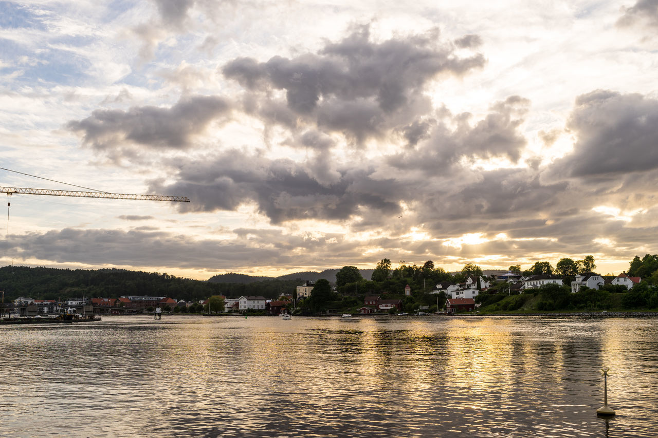River Architecture Building Exterior Built Structure Cloud - Sky Day Nature No People Norway Norway ✌ Norway🇳🇴 Outdoors Porsgrunn Porsgrunn City Porsgrunnselva River Scenics Sky Sunset Tranquility Water Waterfront