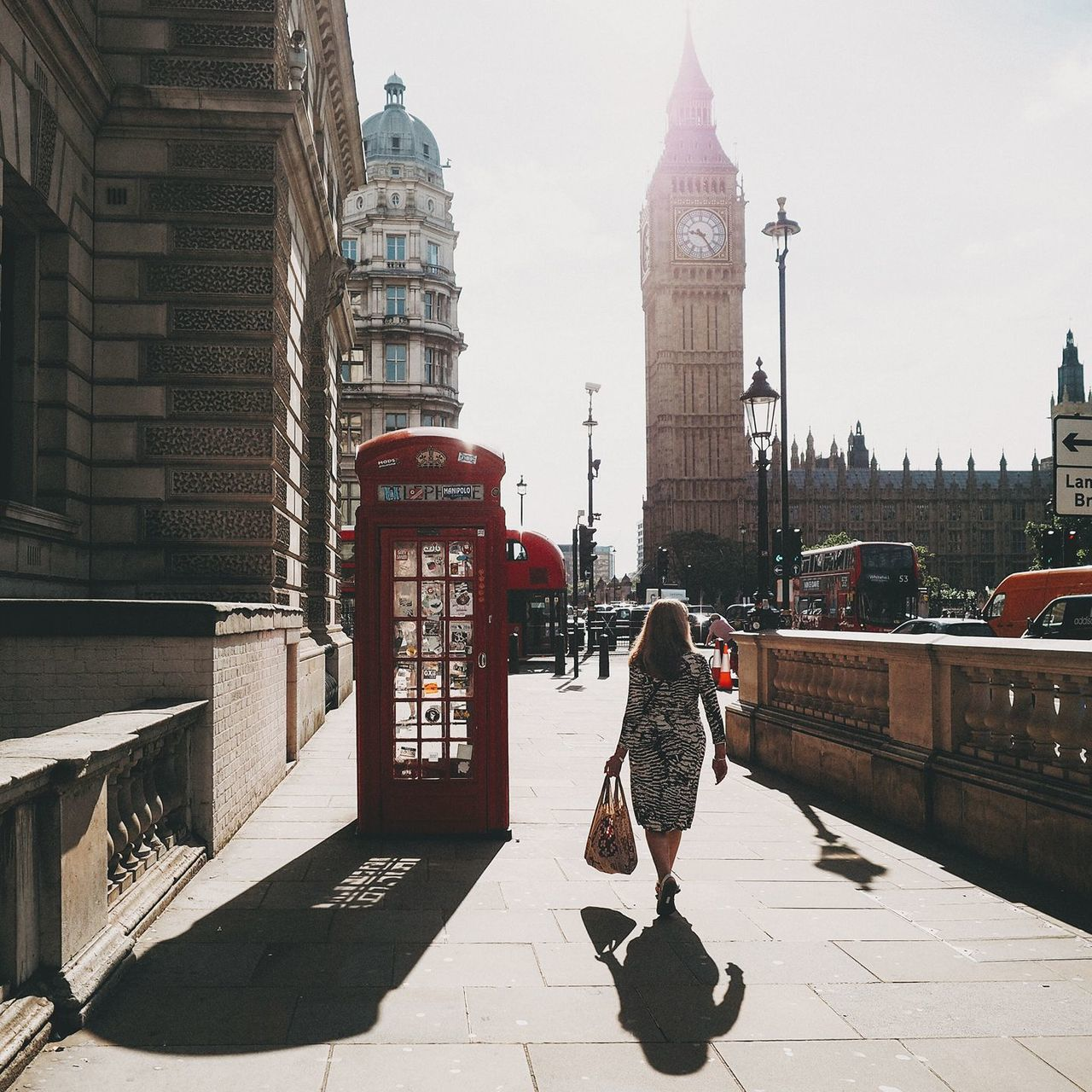 Architecture Big Ben Building Exterior Built Structure City Clock Tower Day Full Length Light Light And Shadow Lighthouse London London Lifestyle LONDON❤ One Person Outdoors Pay Phone People Real People Sun Sunlight Sunset Telephone Booth Travel Destinations Uk Live For The Story