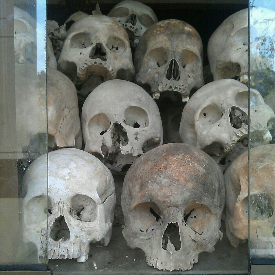 Beautiful stock photos of skull, Cambodia, Cambodian Genocide, Choeung Ek, Day