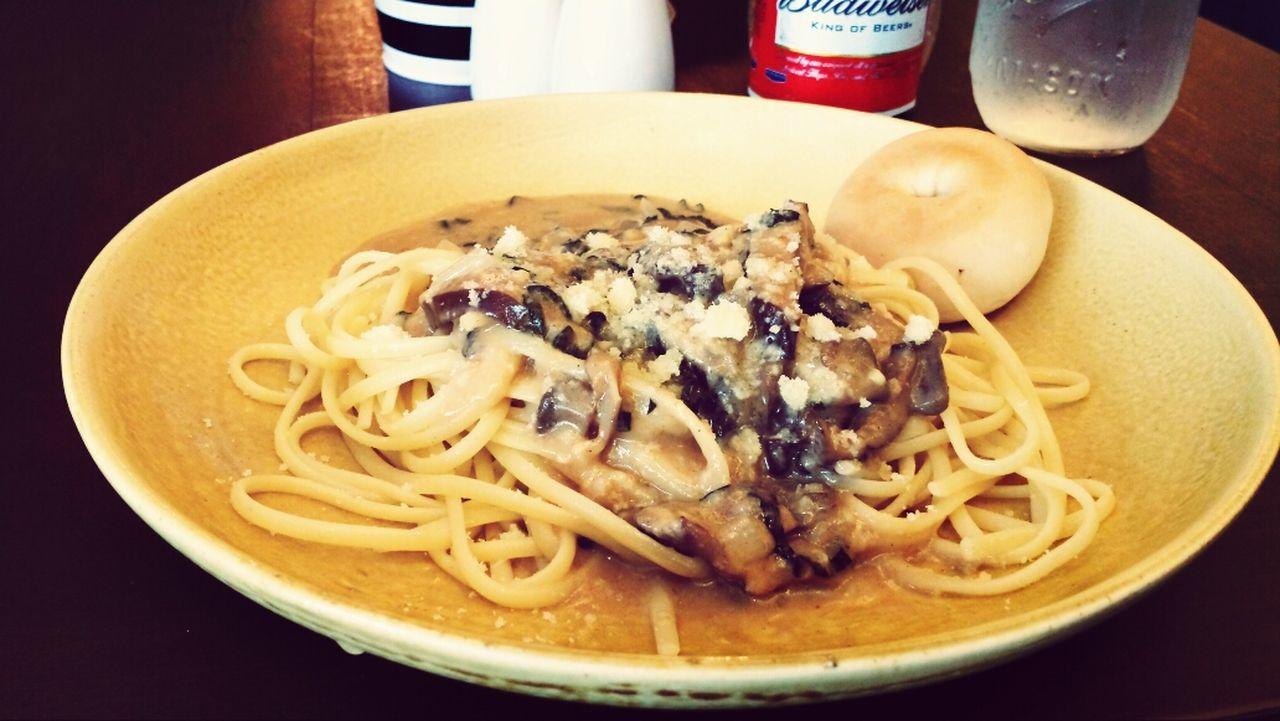 truce mushroom pasta linguini Pasta Foodporn