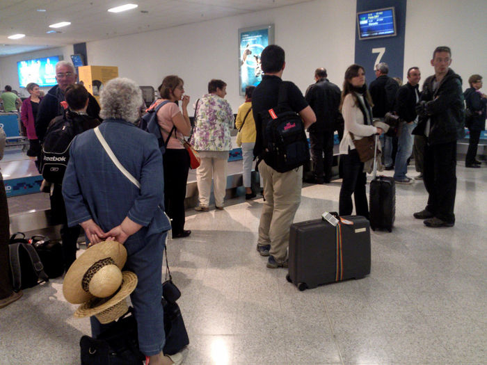 """Baggage Reclaim Area, Athens International Airport """"Eleftherios Venizelos"""" Greece. Athens Airport Busy Travel Photography Travelling Waiting In Line Baggage Claim Indoors  International Travel Large Group Of People People Real People Standing Travellers"""