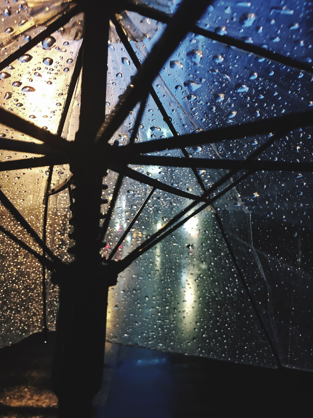 Water Drop Wet Street Umbrella Rain Drops