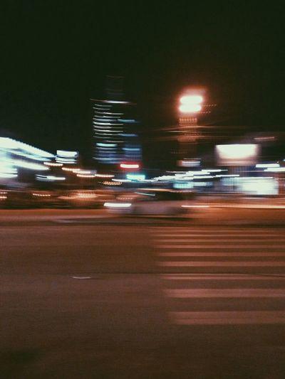 City Night Car Road