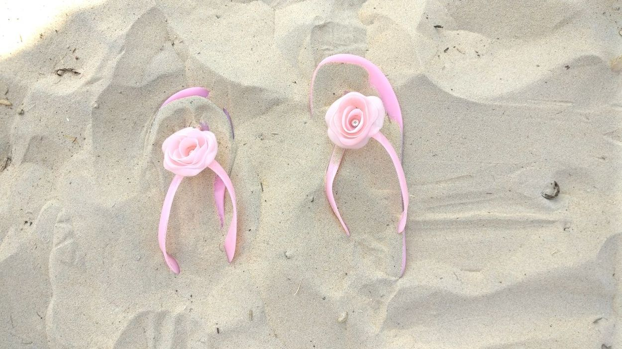 Pink Color High Angle View Close-up Sand Pink Outdoors No People Macro By The Sea One Plus 3t Beach Phoneography Suttle Color Flipflops Day Walk On The Beach  Vacation Beach And Sand Baby Pink Pleasant Evening Immersed Millennial Pink Live For The Story Out Of The Box