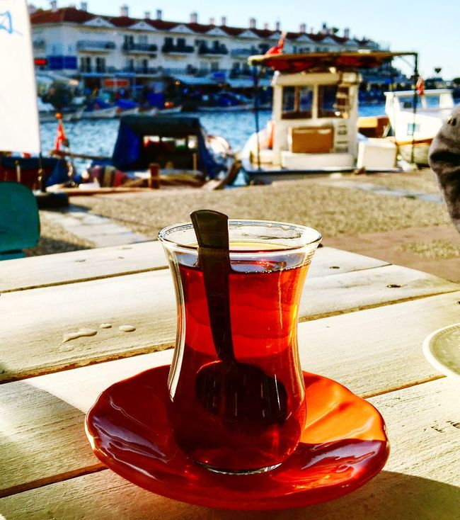 Eskifoca Sea Day Slowcity Food And Drink Drink Izmir Türkiye Tea Tea Time Tee Teezeit çay Cay Keyfi IPhoneography Iphonephotography Iphone6s