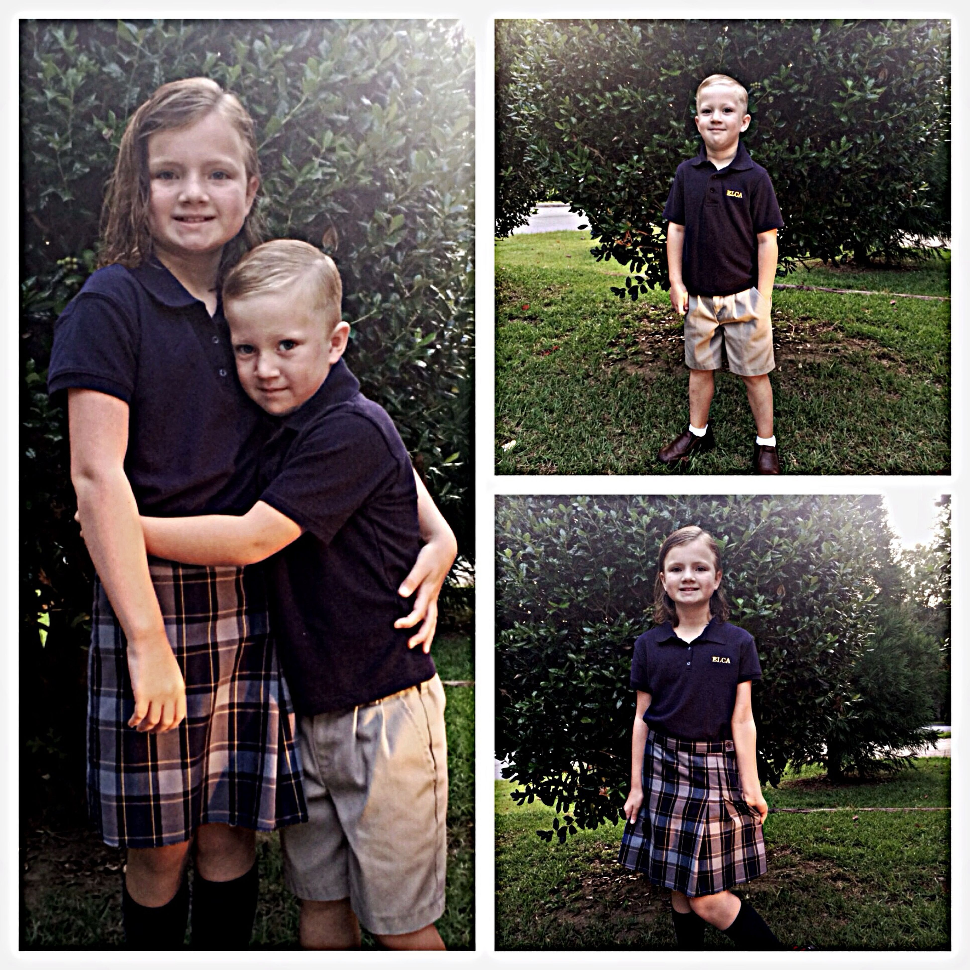 My southern grankids ready for thier first day of school.
