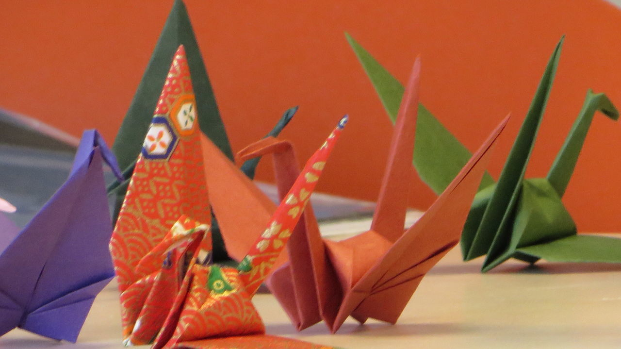 Little birds. Gift from a Japanese friend. Exploring Style BirdsClose-up Colorful Detail Fine Art Photography Focus On Foreground Geometric Shapes Japanese Culture Multi Colored Origami Paper Paper Birds Papercraft Selective Focus Still Life Ultimate Japan Colour Of Life Beautifully Organized