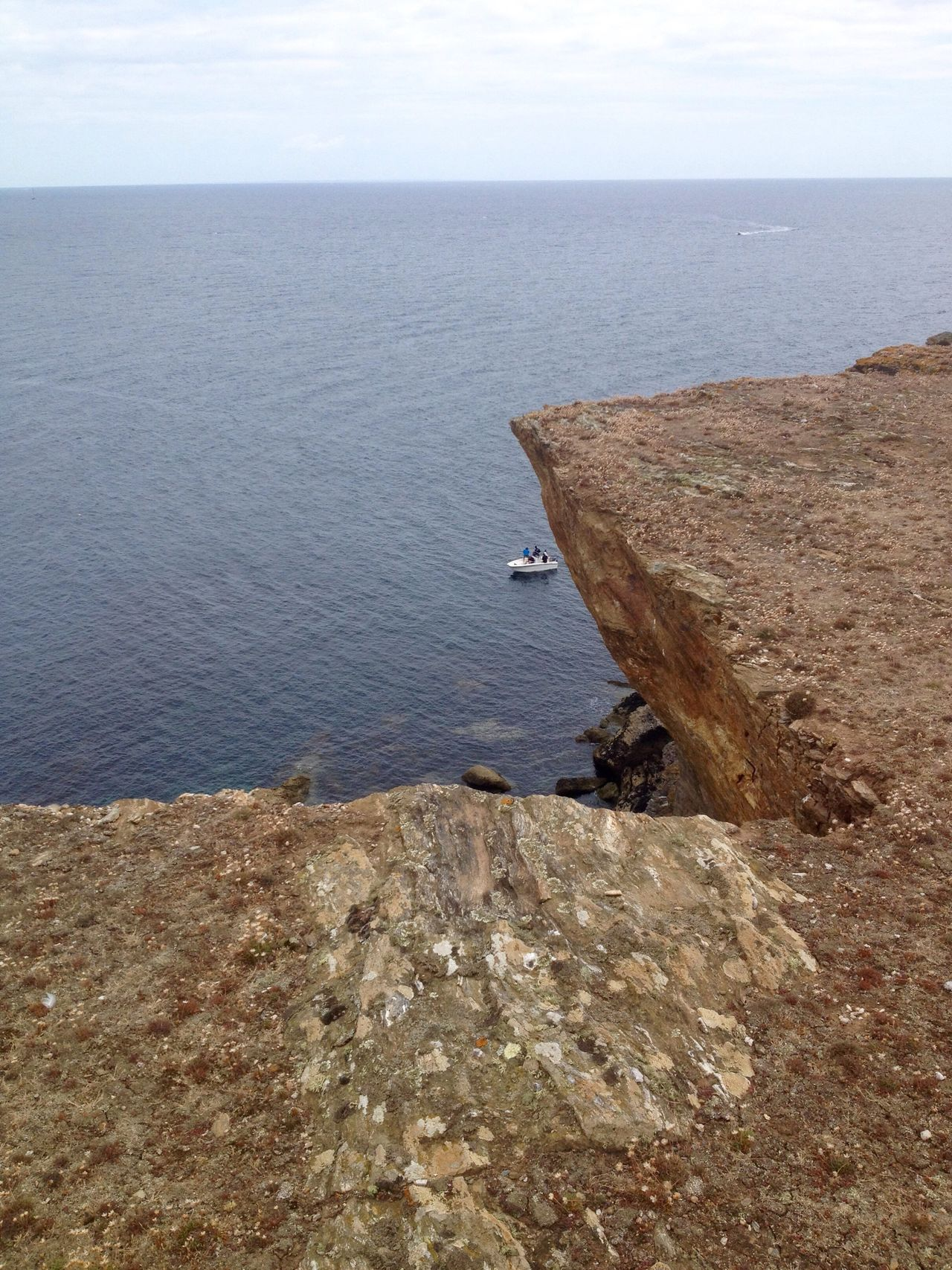 Bretagne Île De Groix Pointe De L'enfer Bateau Nature Été
