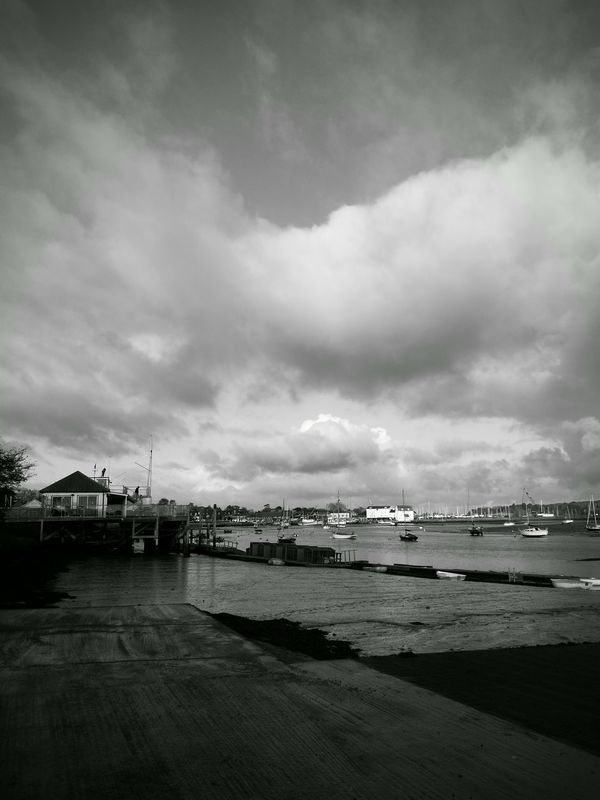 Dramatic Sky Cloud - Sky Outdoors Deben River, Suffolk Landscape Photography Blackandwhite Photography Water Boats And Water