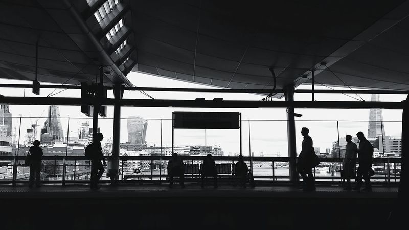 London, United Kingdom. Silhouette City Metro Station Blackandwhite EyeEmNewHere Indoors  London Streetphotography Lost In The Landscape Black And White Friday