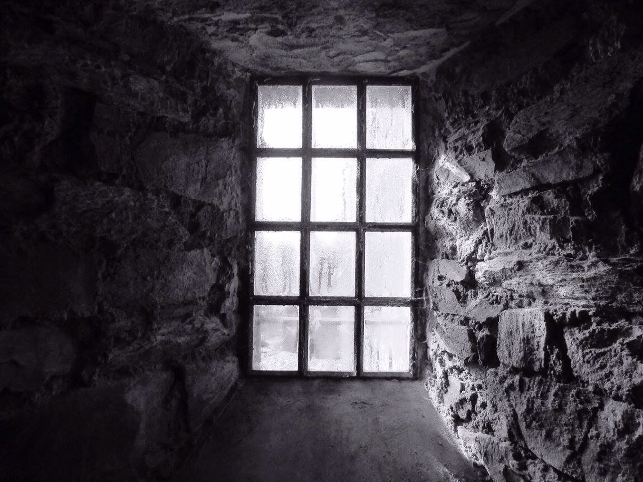 window, indoors, architecture, door, built structure, day, abandoned, no people, daylight, prison
