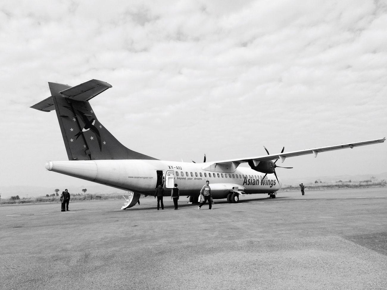 Feel The Journey Heho Myanmar Airport Airplane Myanmar