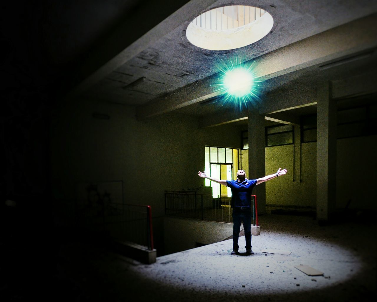 Playing with light One Man Only Full Length Only Men One Person Men Adults Only Adult People Indoors  Day Eye4photography  Open Edit EyeEm Best Shots Fresh 3 Lookingup Light And Shadow Light In The Darkness