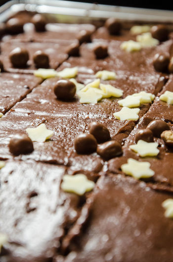 A chocolate tray back cake. Cake Calories Chocolate Chocolate Cake Close-up Day Dessert Fattening Food Food And Drink Food And Drink Freshness Homemade Indoors  Indulgence No People Preparation  Ready-to-eat Selective Focus Sweet Sweet Food Taste Temptation Tray Bake Unhealthy Eating