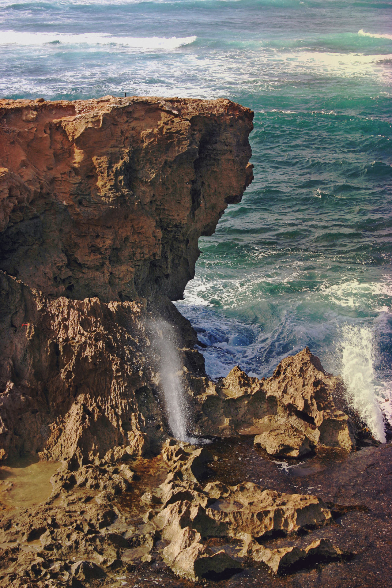 Beach Beauty In Nature Blowhole Cliff Coastline Day Geology Kauai Hawaii Natural Arch Nature No People Outdoors Rock - Object Scenics Sea Solid Wave
