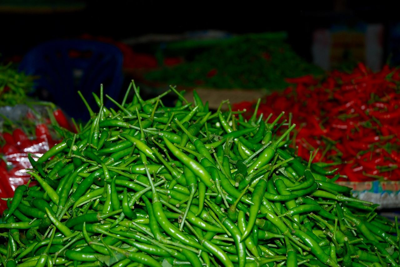 Food Freshness Green Color Healthy Eating Market No People Red