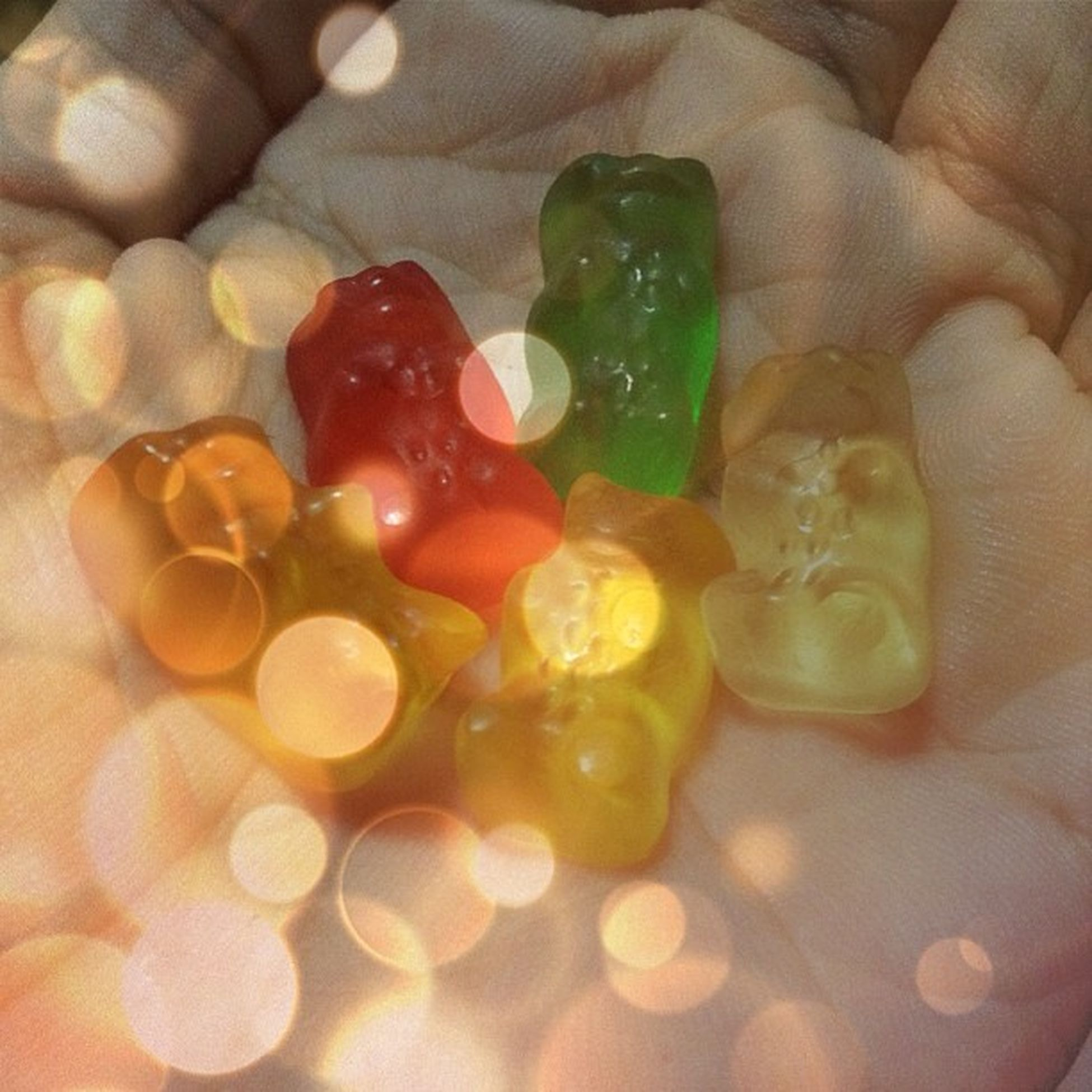 WHO CARES?! Care Bears!!.... I mean GUMMY BEARS!! ? ((thank you ate Love ☺??)) Haribo GoldBears Gummybears Yummy gummy candy