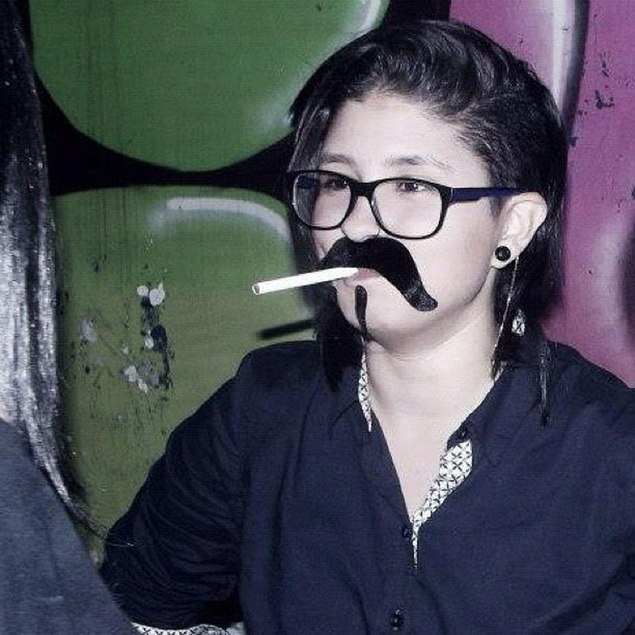 Lesbian Mustache Lesbianlove