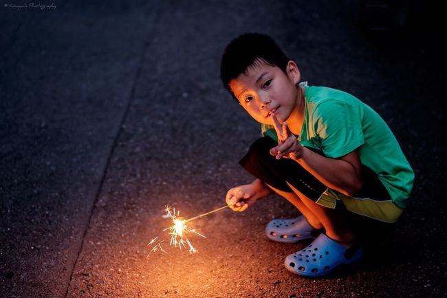 Fireworks My Son Summer Summer Event Portrait Fujifilm_xseries FUJIFILM X-T1 XF 56mm F1.2 APD Snapshot EyeEm