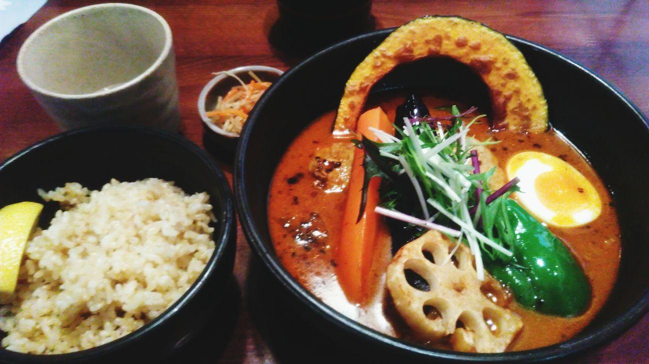 温まります😋😋Soup Bowl Food And Drink Curry Yammmm😋