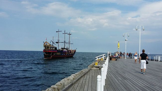Pier Quay Molo Harbour Yacht Life Pirate Ship Statek Piracki Pirateship  Pirate Summertime Polska Mode Of Transport Poland 💗 Poland Sopot, Poland Sopot Statek Sailing Jachtlife ✌️