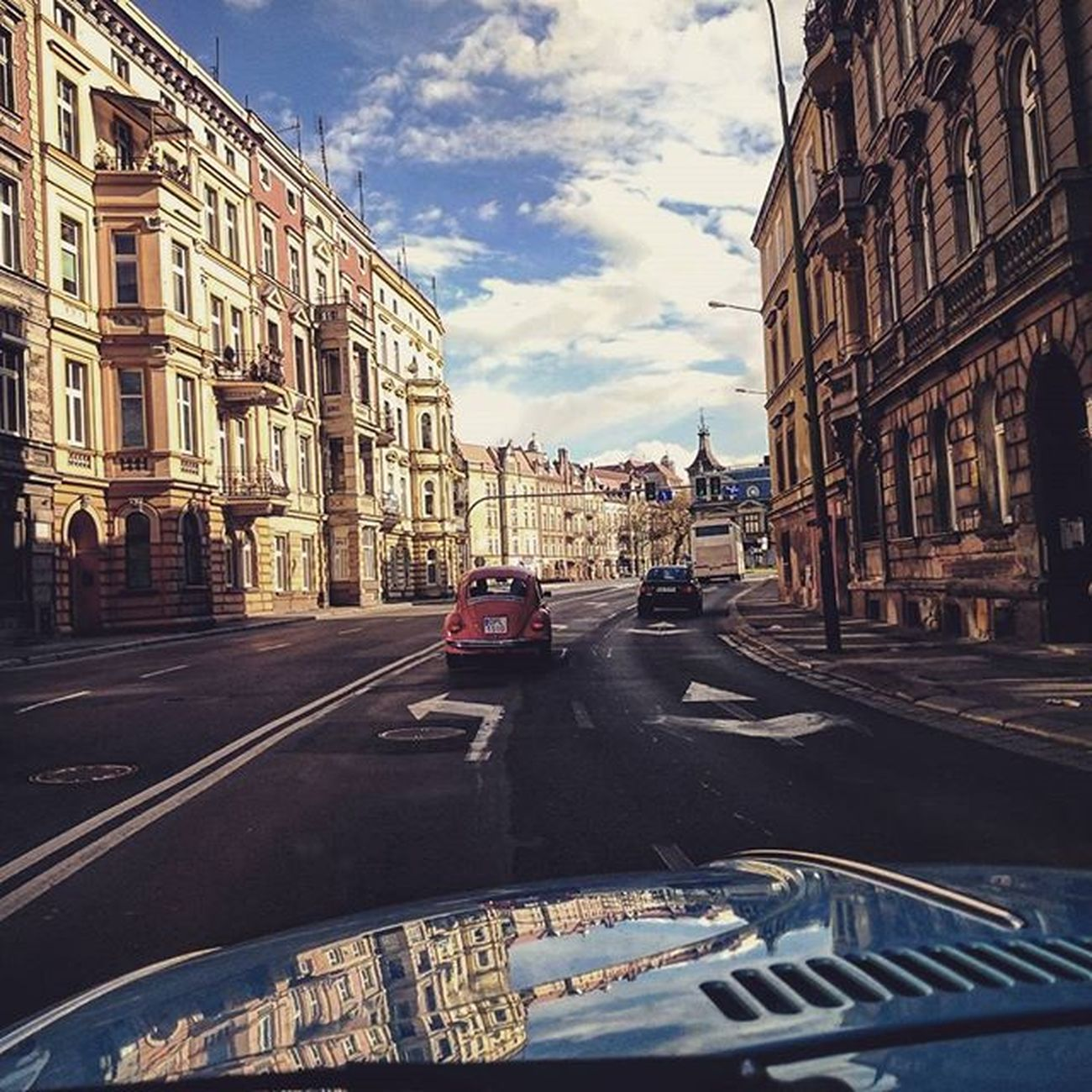 🚗 Legnica VW Garbus Wdrodze Igerslegnica Kamienice Miasto Droga Beetle Ontheroad City Road