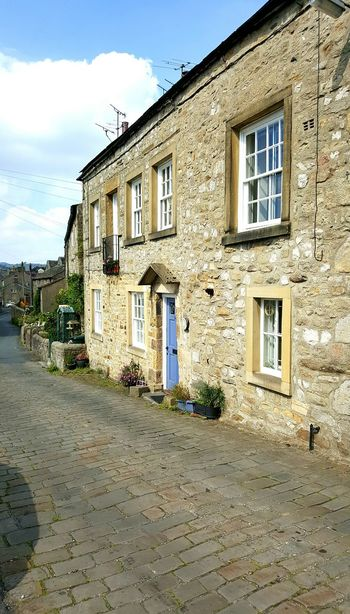 Cottages Settle Cottage Settle North Yorkshire Cobblestone Streets No People Dwellings Yorkshire Dales