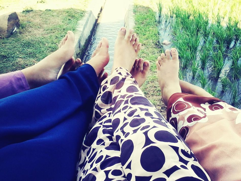 Together :) Taking Photos In The Field Longdress Relaxing