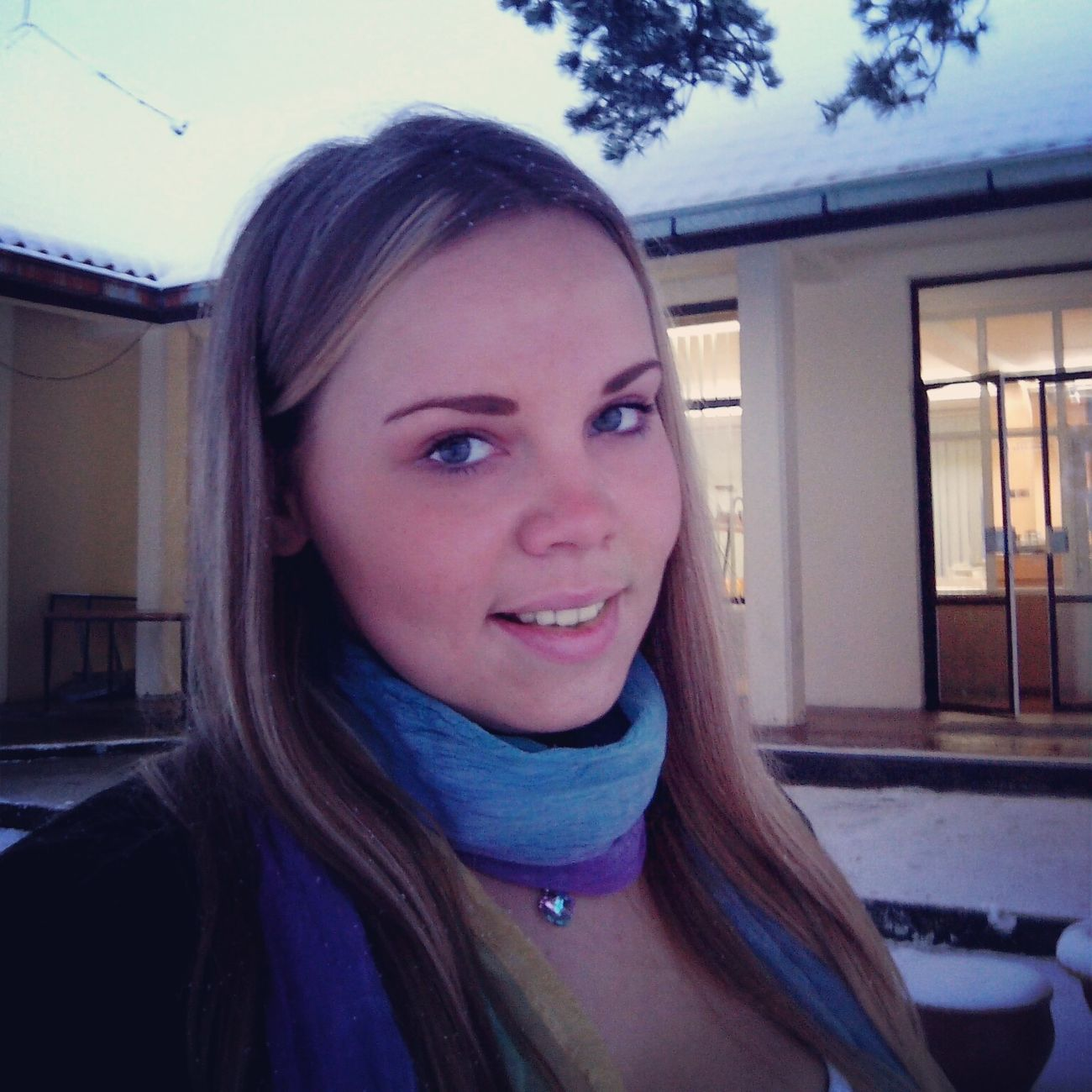 Snow :) Selfie Hello World Life Is Beautiful, So Just Smile