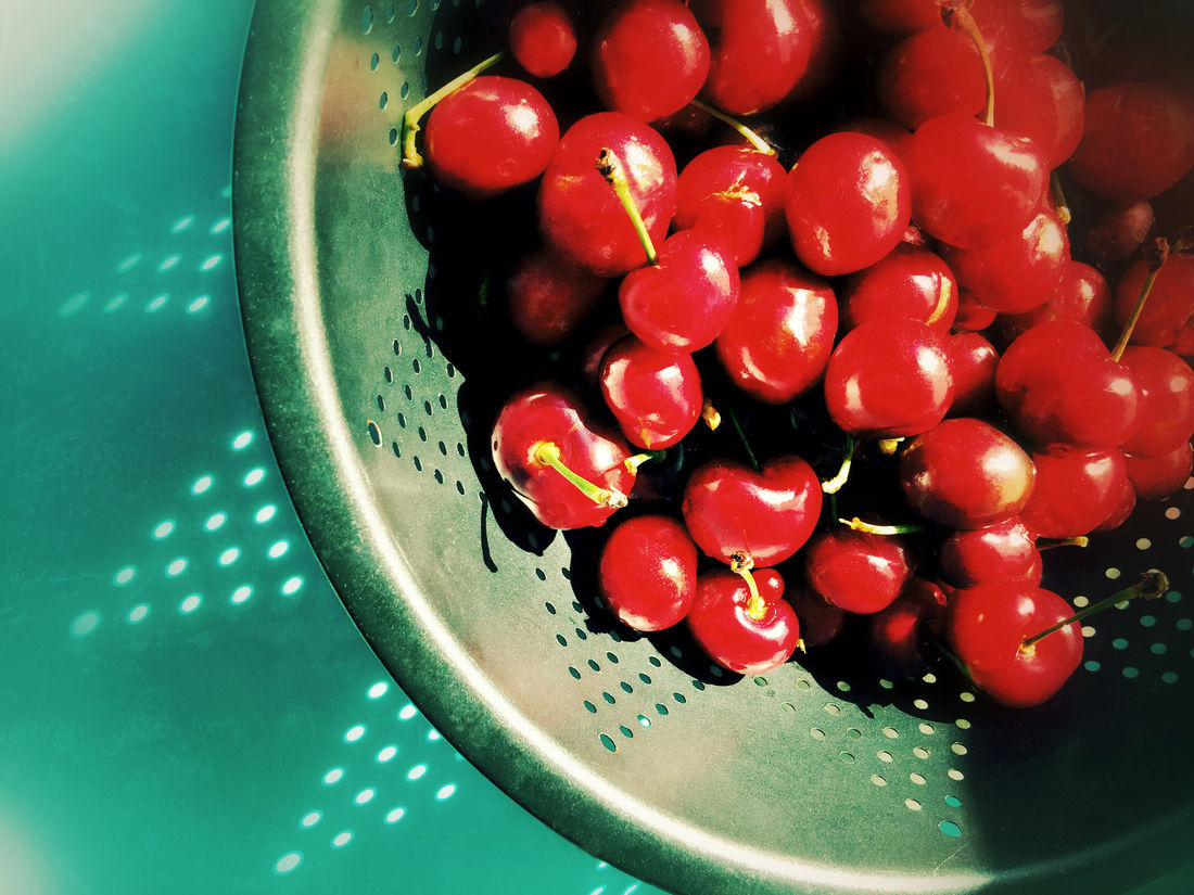Cherries in a colander Cherries Circles Closeup Day Filtered Image Food Food Ingredient Fresh Fruit Freshness Geometric Gray Healthy Eating Natural Light Nobody Organic Overhead Phone Camera Red Ripe Shadow Snack Tasty Triangles