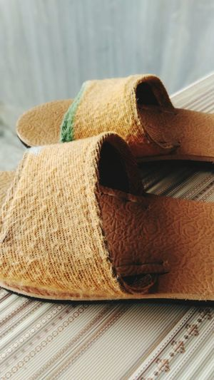 Slippers Lover Indoors  Fashion Beige Pair Shoe No People Close-up Day