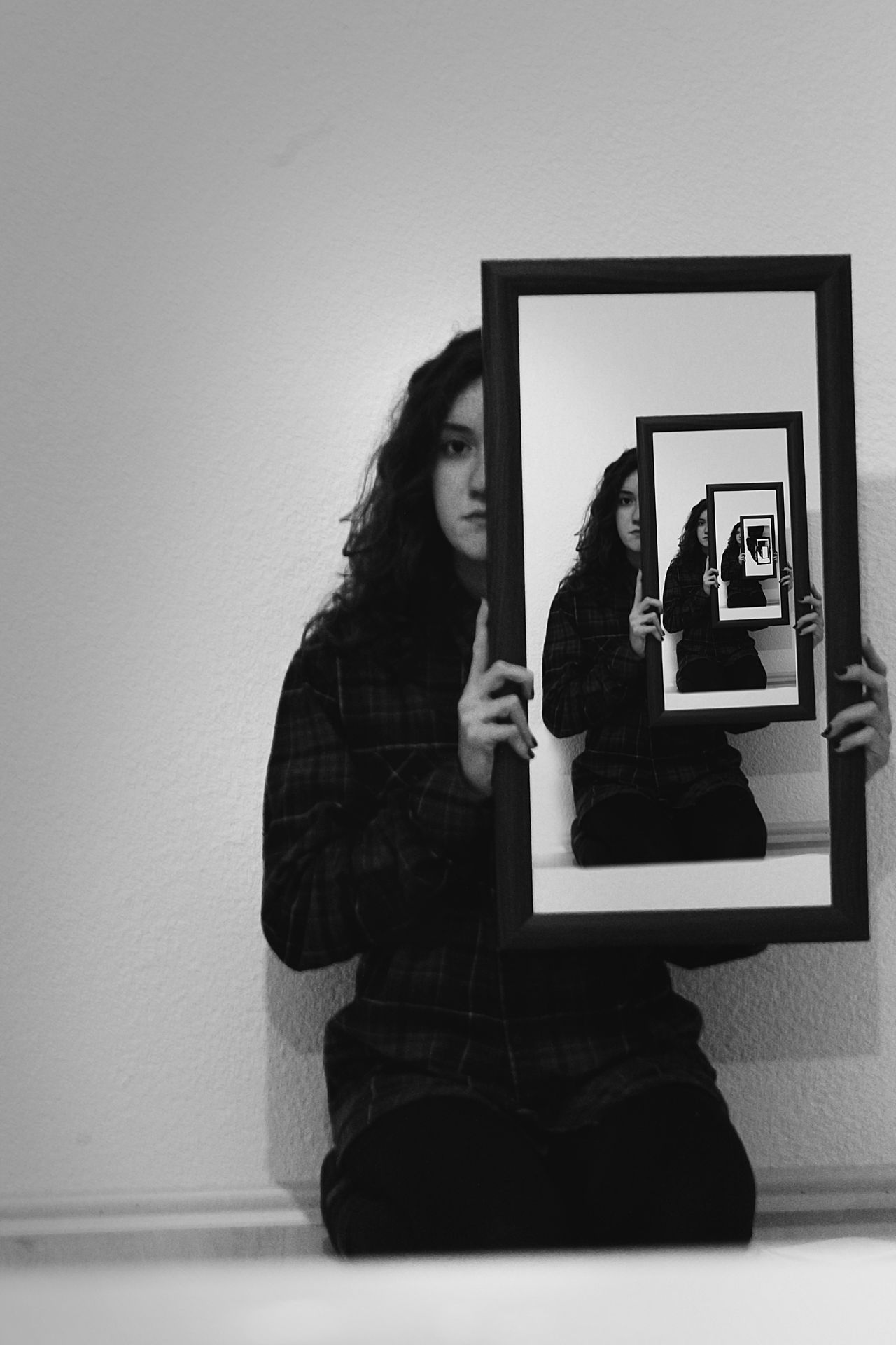 My deepest reflection of my self. Black And White Black And White Photography Conceptual Conceptual Photography  Deep Deep Thoughts Mirror Soul