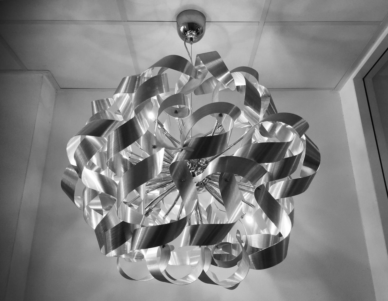 Home Interior Eyeemphotography Taking Photos Blackandwhite Black And White Monochrome Interior Design Interior Light Light And Shadow Ceiling Indoors  Metal Lights