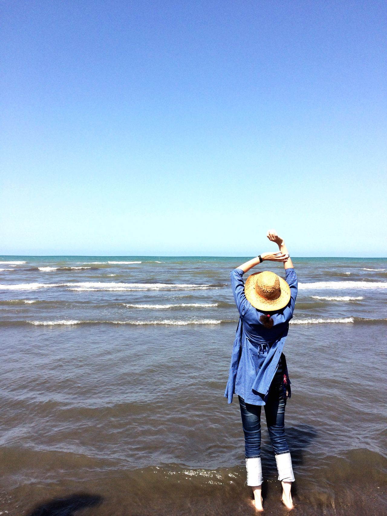 43 Golden Moments The Sea And Me Woman And The Sea In The Sea (good Time) Relaxing Infinity Summertime Deep Blue Sea Deep Blue Sky All In Blue Iran Gilan Caspian Sea Fine Art Color Of Life Color Palette