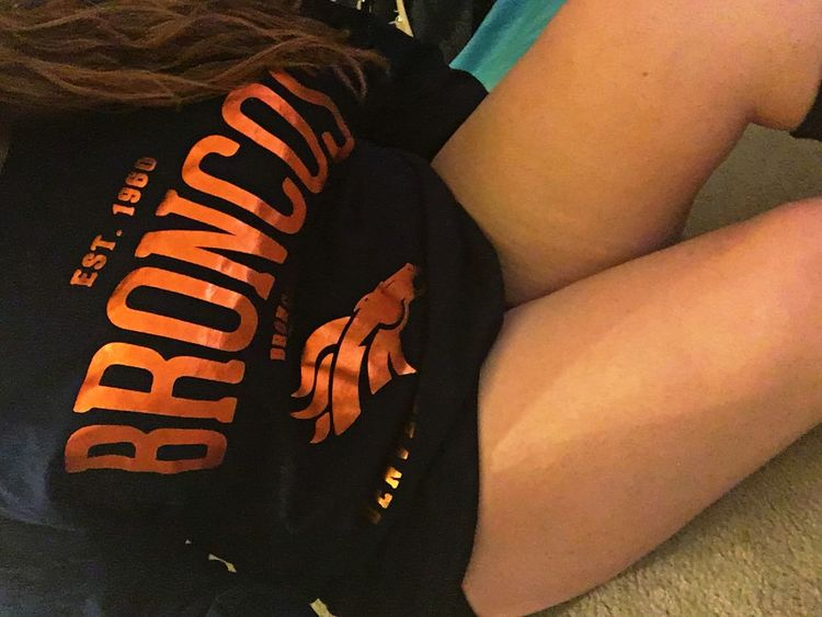 Congrats to the Super Bowl Champs 🏈 Football Sport Broncos  NFL Champions Super Bowl Selfie ✌ Check This Out Legs Denver Sports Girl!  That's Me Hanging Out Enjoying Life Relaxing