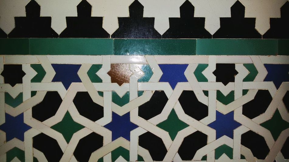 No People Pattern Outdoors Day City Sevilla SPAIN History EyeEmNewHere ArtWork Indoors  Close-up Hanging Andalusia Multi Colored Backgrounds Art And Craft Mosaic Art Cultures Textile Textured  Checked Pattern Old-fashioned North Africa Marocco Alcazar