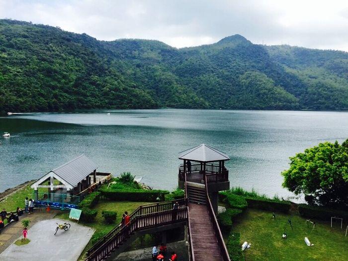 Landscape Clouds And Sky Mountain Liyu Lake Lake Enjoying Life Vocation Relaxing Hualien, Taiwan