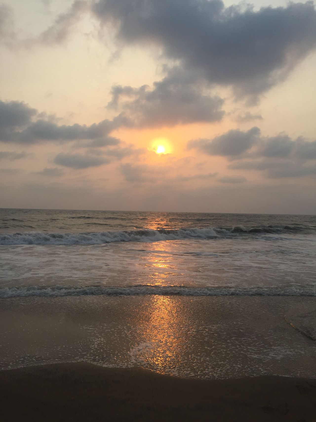 Sea Horizon Over Water Beach Sunset Water Sky Nature Beauty In Nature Scenics Tranquility Tranquil Scene Shore No People Sand Cloud - Sky Sun Outdoors Day