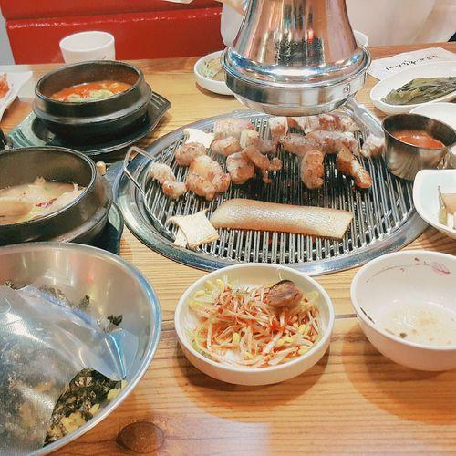 Pork Porkchop Smagyeopsal Food Table Korean Food