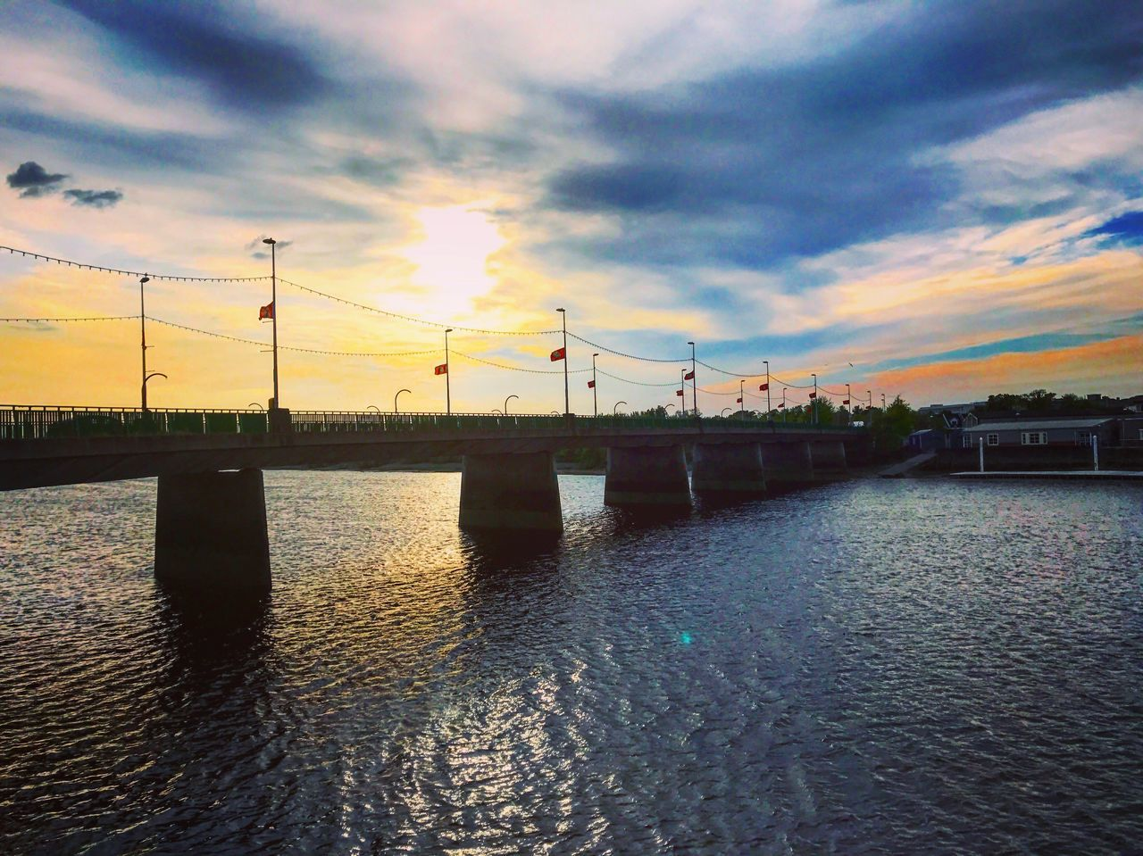 Ireland Spring Springtime Sunset Limerick Bridge - Man Made Structure River Riverview Sky Beautiful Beauty In Nature