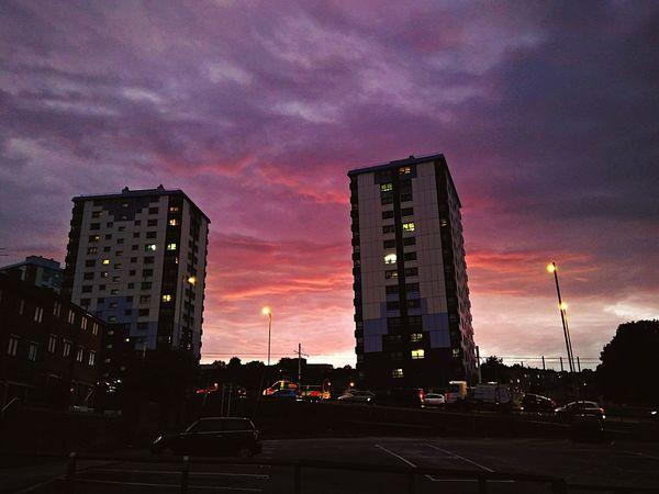 Sunset Dramatic Sky City Life Illuminated Cityscape RedSky Slihouettes EyeEmNewHere