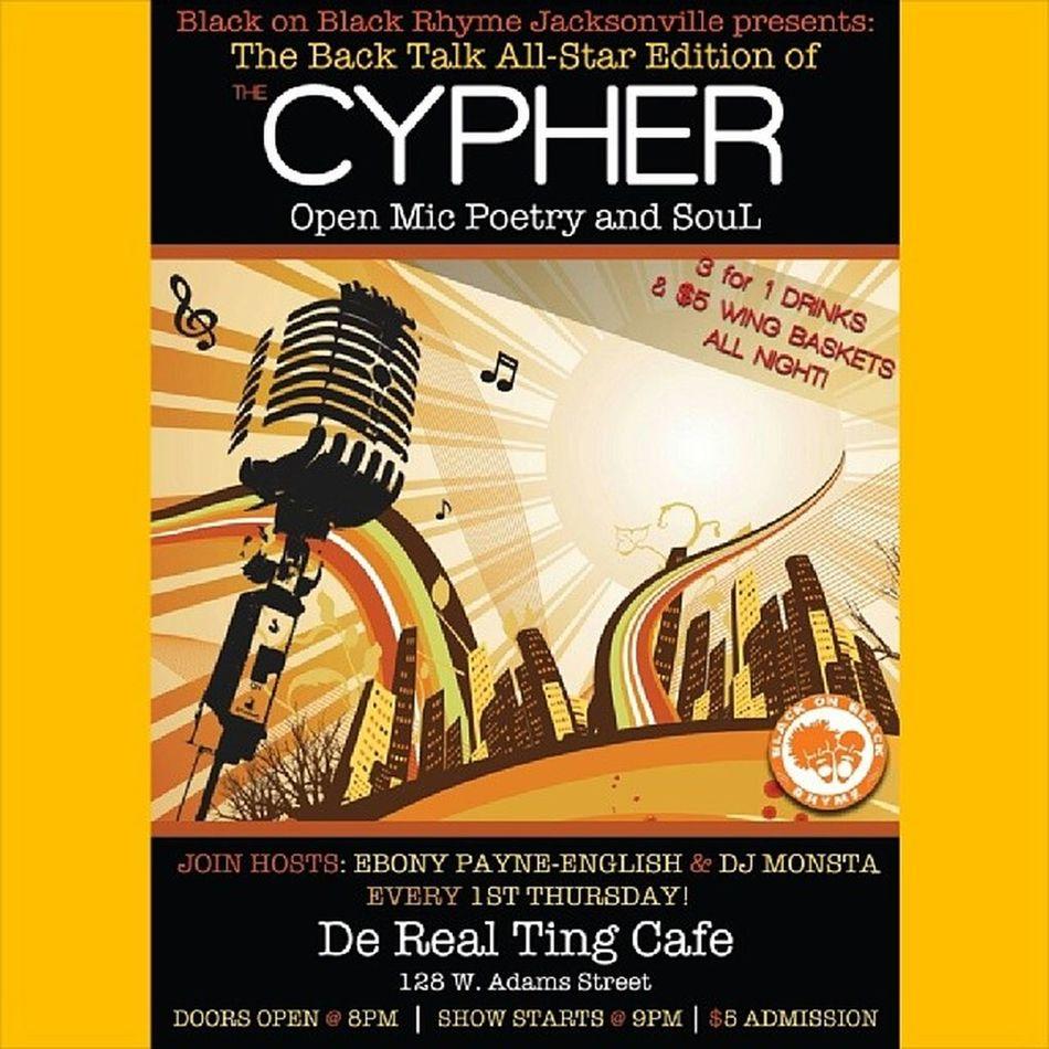 4.3.14 DeRealTingCafe TheCypherPoetry BlackonBlackRhyme BackTalkTalkBack jacksonville