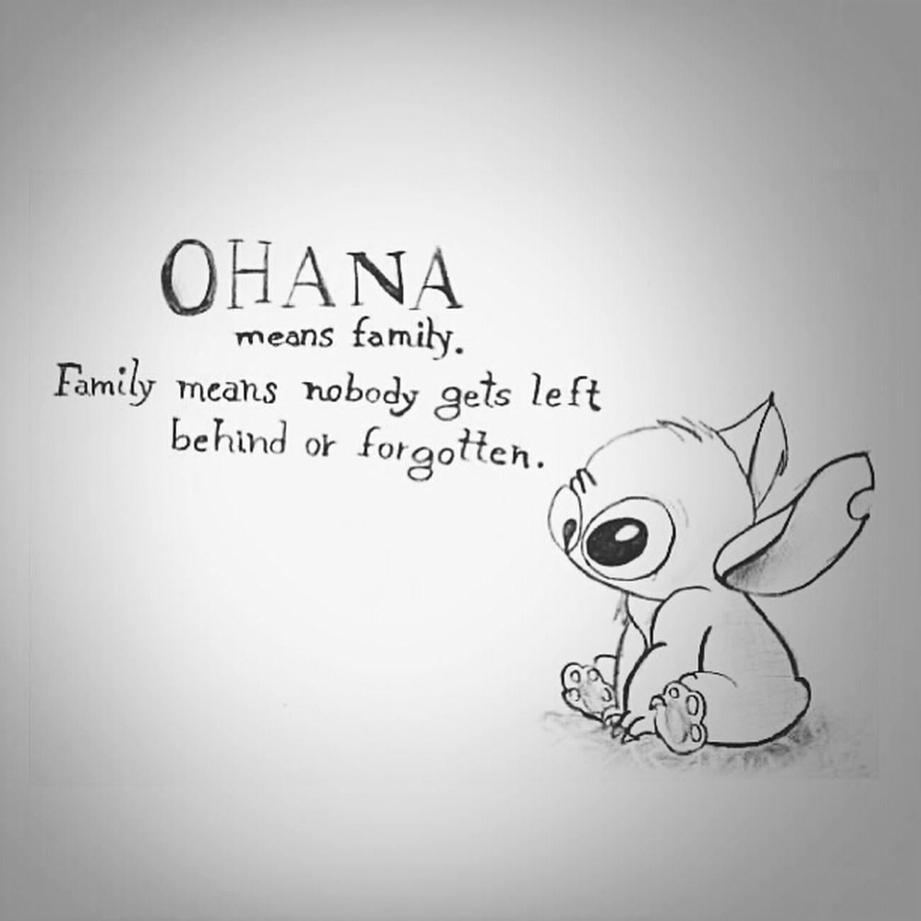 Ohana ❤ Stitch Family Quoteoftheday