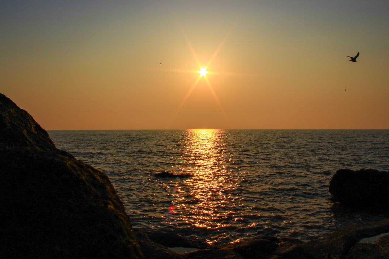 sunset Baeksu Coastal R Beautiful Beauty In Nature Golden Hour Korea Magic Hour Sea South Korea South Korea's HanRiver Sun Travel West Sea First Eyeem Photo