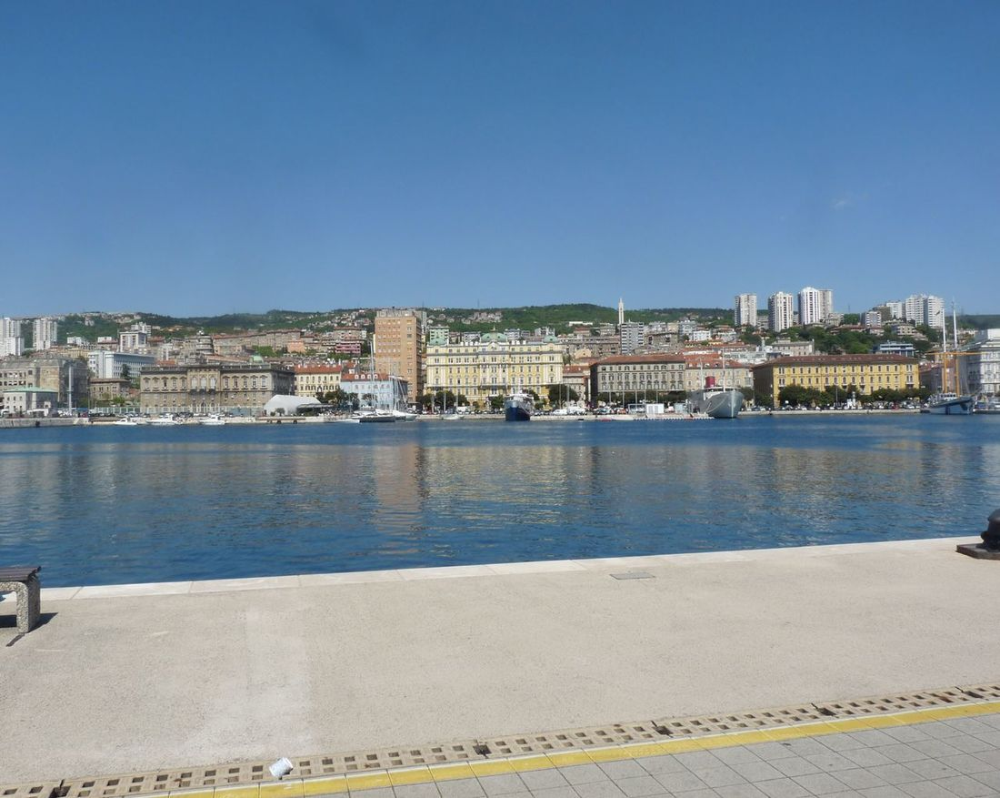 Architecture Blue City Clear Sky Croatia Day Europe Harbour Harbour View No People Outdoors Rijeka Rijeka City ❤⛵ Sea Sky Water