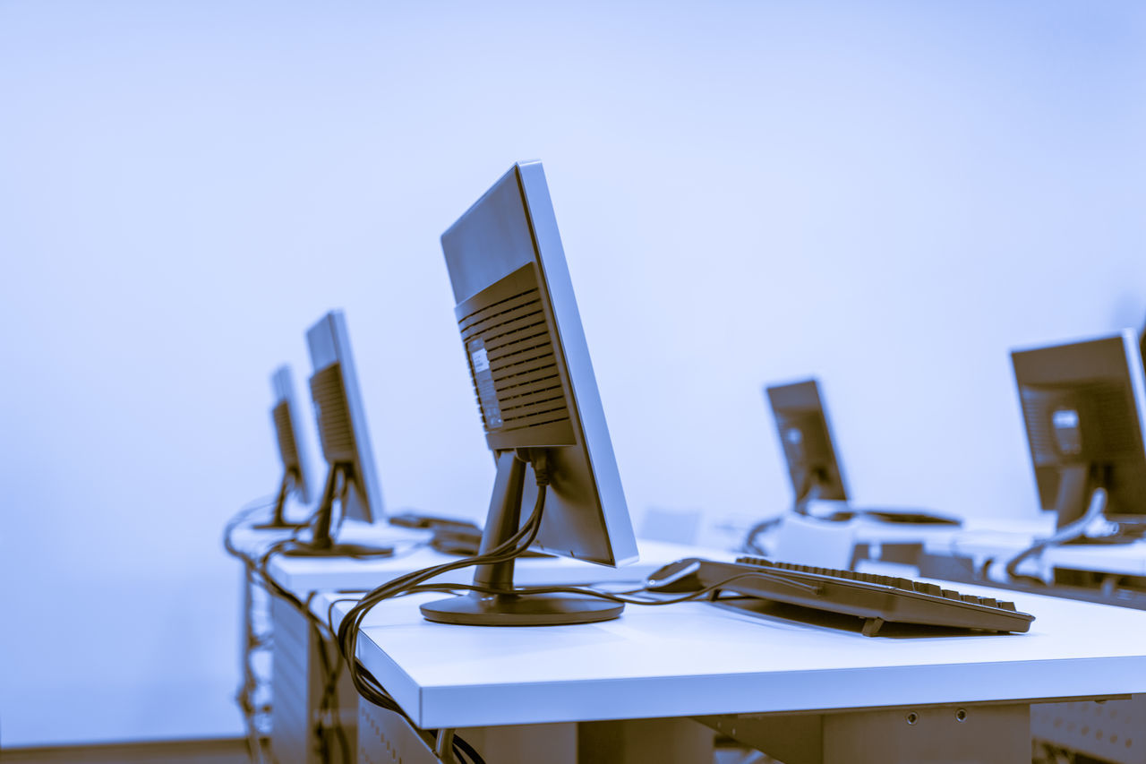 Beautiful stock photos of computers, Absence, Classroom, Communication, Computer
