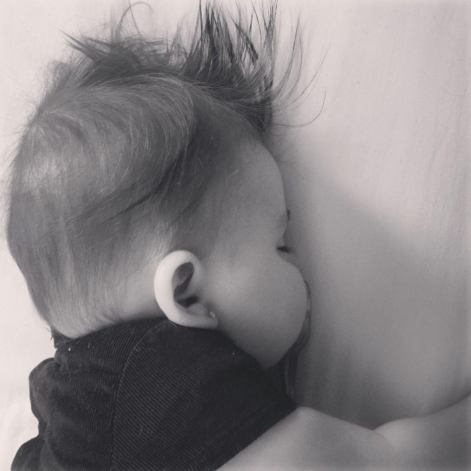 Sleepy time Princess Granddaugter Grandfather Love Babygirl Loveher IPhoneography Blackandwhite B&W Portrait