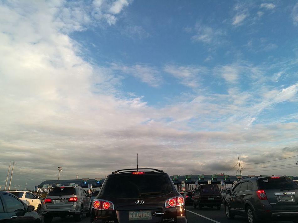 Back to reality.... Mode Of Transport metromanila Transportation Car Sky Cloud - Sky Day Outdoors