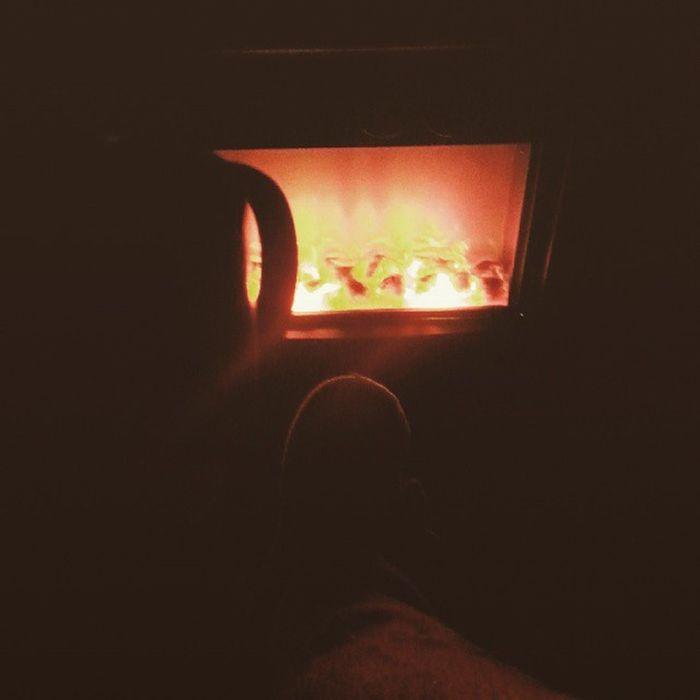 Relax... ?? Camomilla Caminetto Pigiamone Pantofolecalde tv instamoment